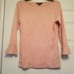 Lauren Ralph Lauren New pink top medium w/ ruffle